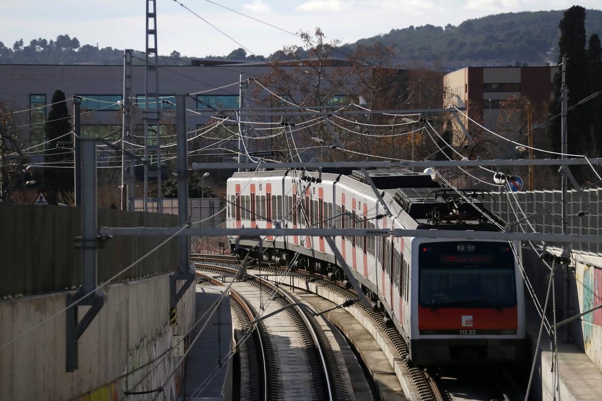 Presentación del inicio de las obras de soterramiento de la línea de FGC en el barrio de Can Feu de Sabadell.