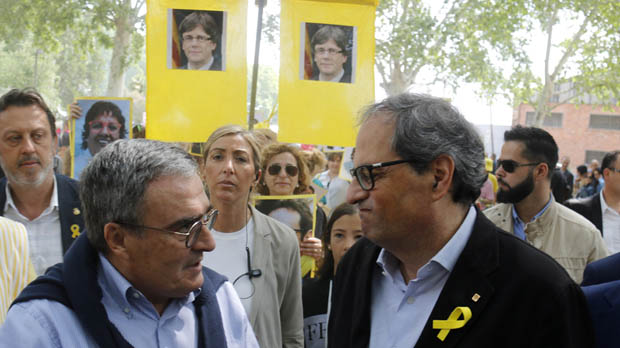 Torra comenta las condiciones pra dar soporte a Pedro Sánchez en la moción de censura a Rajoy.