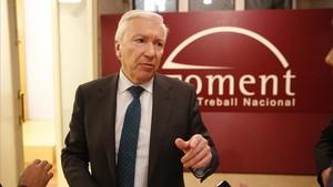 El presidente de Cecot, Antoni Abad, en la sede de Foment del Treball.