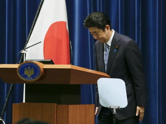 El primer ministro japonés, Shinzo Abe, durante su discurso, este viernes.