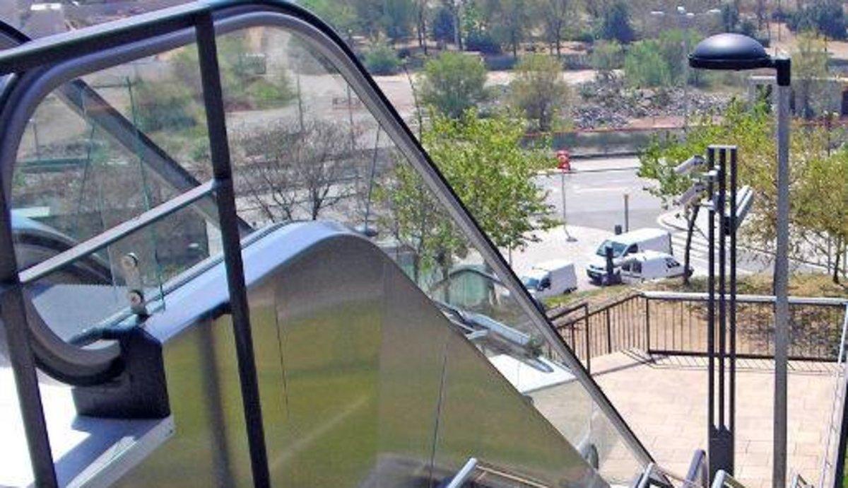 Una escalera mecánica en Santa Coloma de Gramenet.