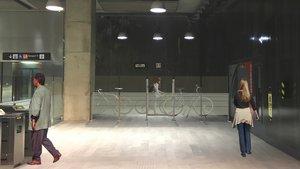 Render del futuro aparcamiento de bicicletas de la estación de metro Mercabarna