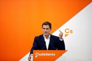 GRAF6936 MADRID ESPANA 15 10 2018 - El lider de Ciudadanos Albert Rivera durante la rueda de prensa tras la reunion del Comite Ejecutivo de Ciudadanos -EFE Juan Carlos Hidalgo