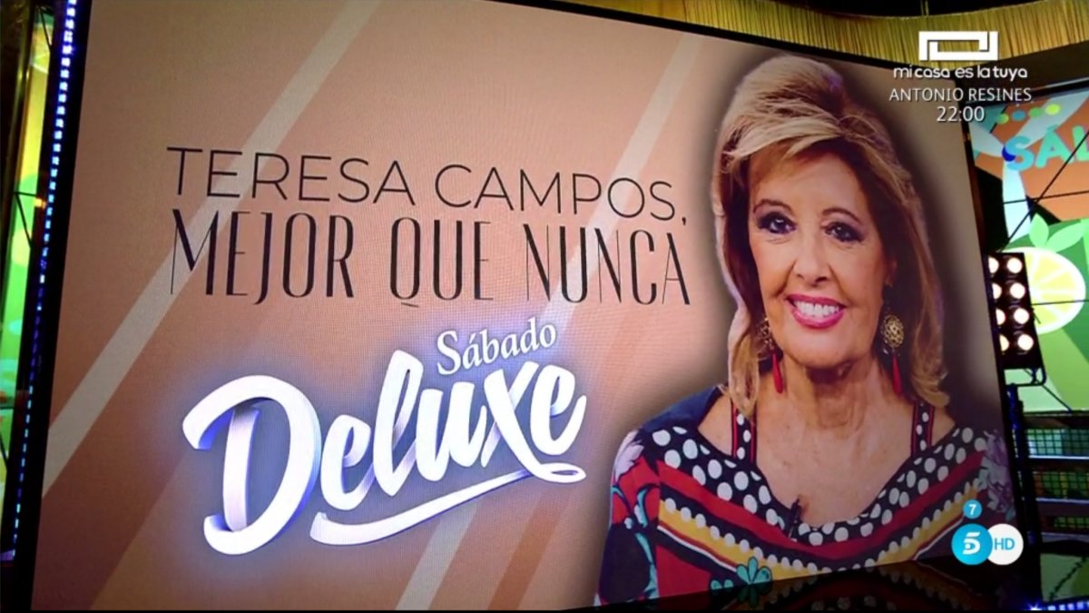 'Sálvame' anunciando la entrevista de María Teresa Campos en 'Sábado Deluxe'.