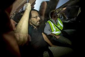 Sandro Rosell, el expresidente del Barcelona, el día que salió detenido de su casa por la Guardia Civil, el 23 de mayo pasado.