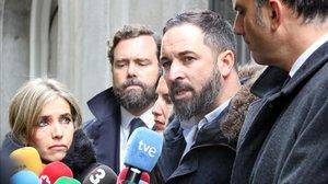 Santiago Abascal, líder de Vox, frente al Tribunal Supermo.