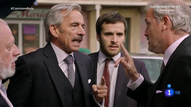 Antonio discute con José Ignacio antes de que lo detengan.