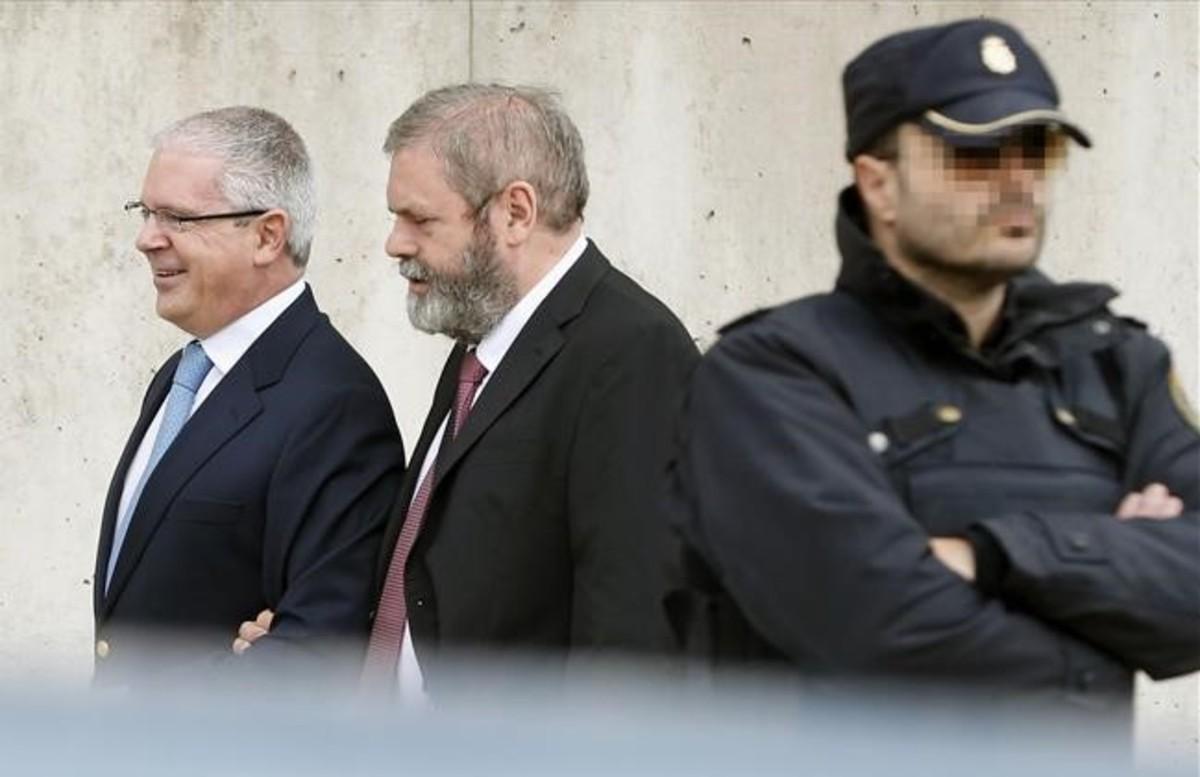 El supuesto número dos de Gürtel, Pablo Crespo, a su llegada a la Audiencia Nacional.