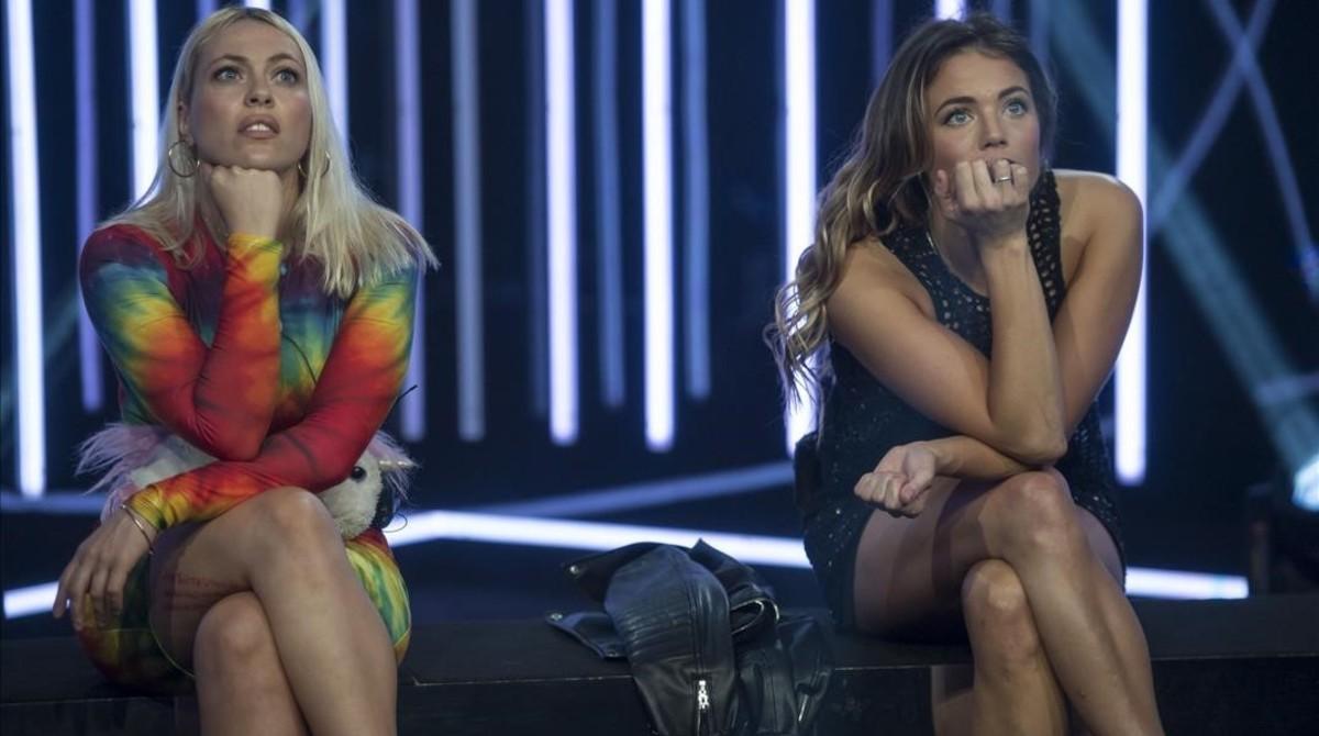 Daniela BlumeyAlyson Eckmann, finalistas de la quinta edición del reality show de Tele 5 Gran hermano VIP.