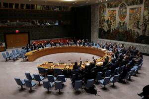 Consejo de Seguridad de la ONU en la votación sobre Siria.