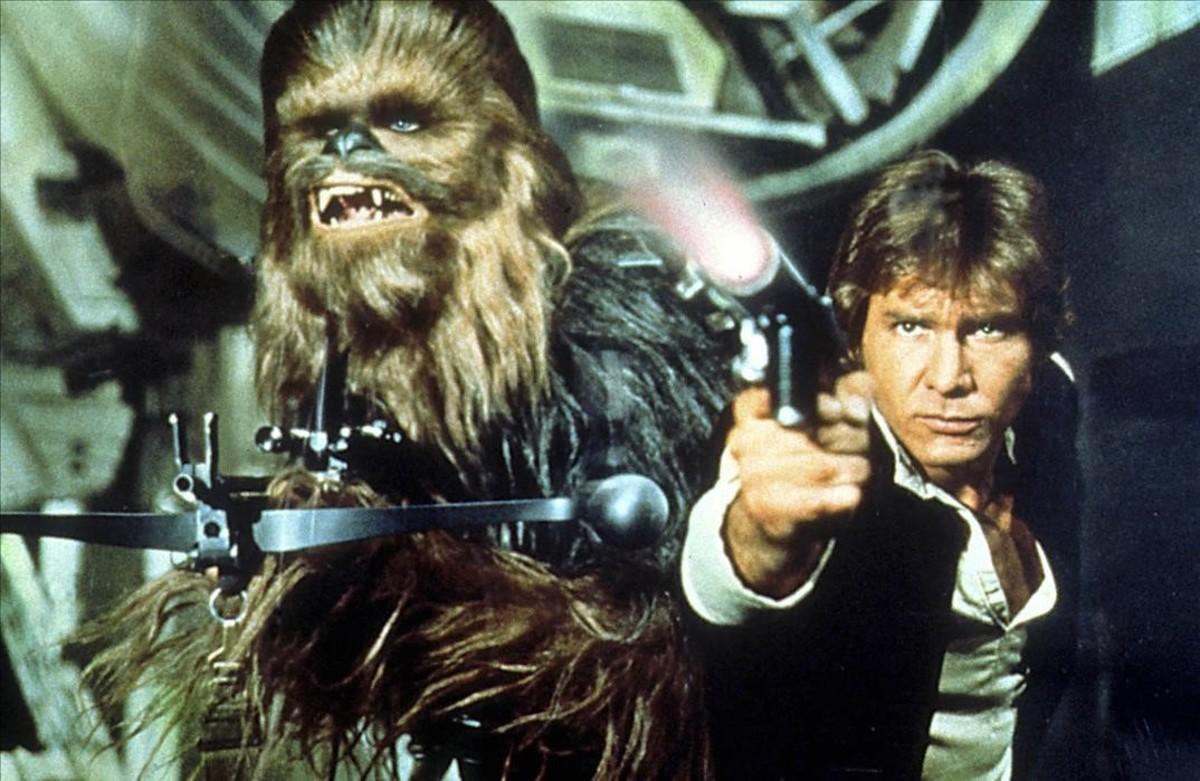 El actor Harrison Ford, en una secuencia de La guerra de las galaxias 4: Una nueva esperanza.
