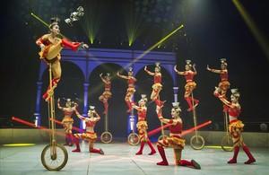 Una representación del festival del circo de Figueres, que empieza este jueves.