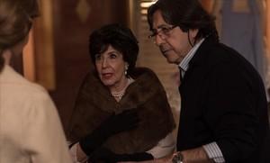 La actriz Concha Velasco, en un momento del rodaje de la última temporada de 'Velvet'.
