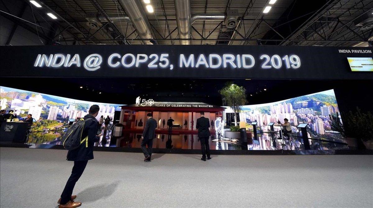 El llamativo stand de la India en la Cumbre del Clima de Madrid.