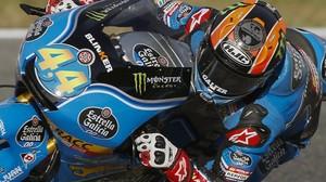 El valenciano Aaron Canet (Honda), ganador del GP de Jerez de Moto3.