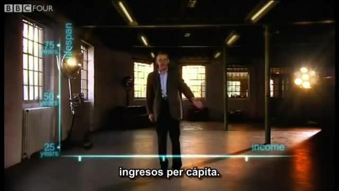 """Vídeo """"200 países, 200 años, 4 minutos"""" de Hans Rosling, en el programa The Joy of Stats"""