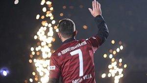 Villa, en el partido que jugó el pasado 7 de diciembre ante el Jubilo Iwata en Kobe.