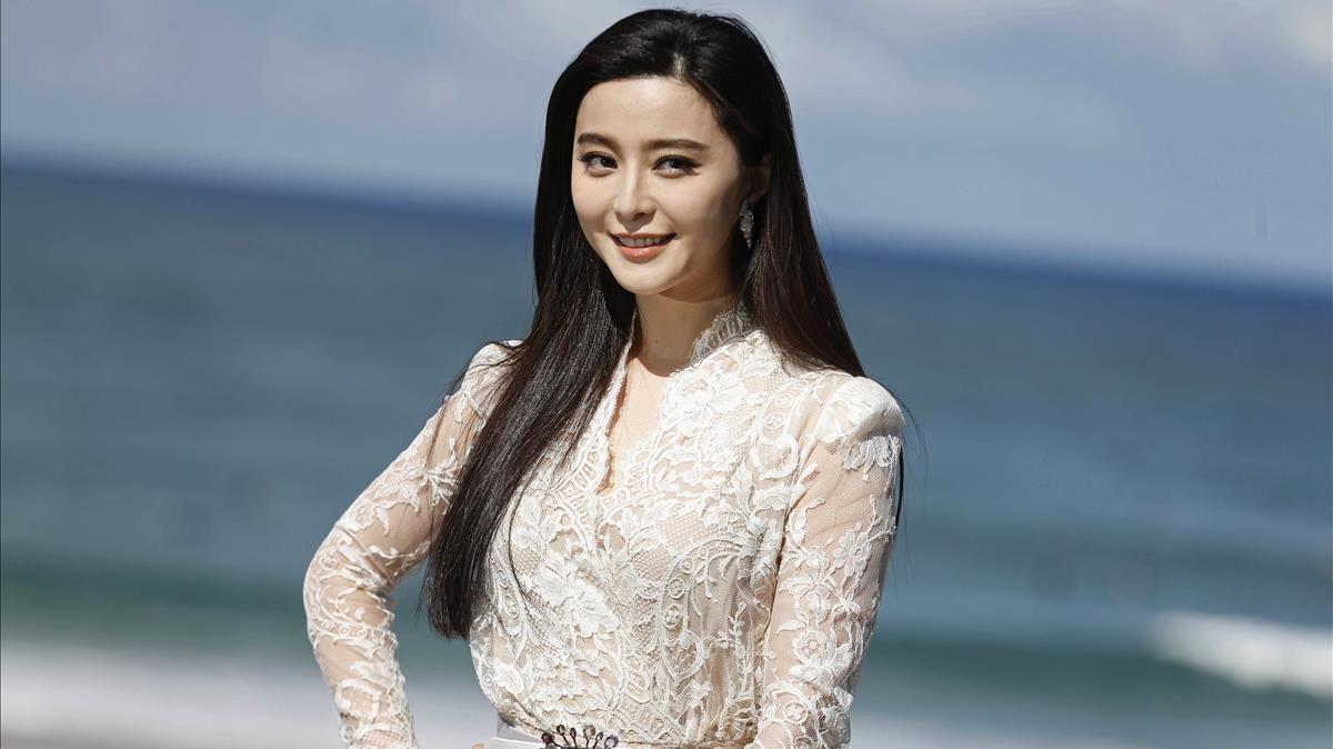 La actriz china Fan Bingbing, en la presentacion de Yo no soy madame Bovary, en el Festival de San Sebastián del 2016.