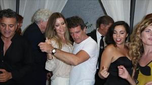 Antonio Banderas i la seva nòvia, de vacances al Festival de Cine d'Ischia