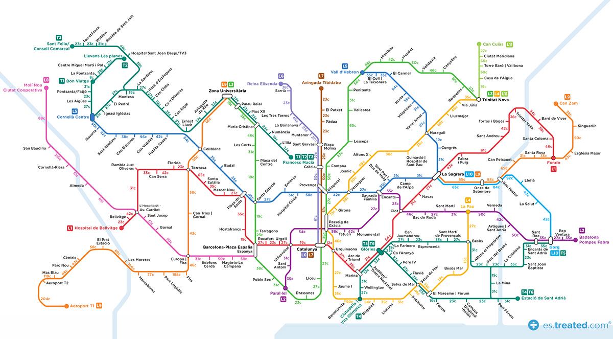 Aquest és el mapa del metro de Barcelona que t'anima a perdre calories