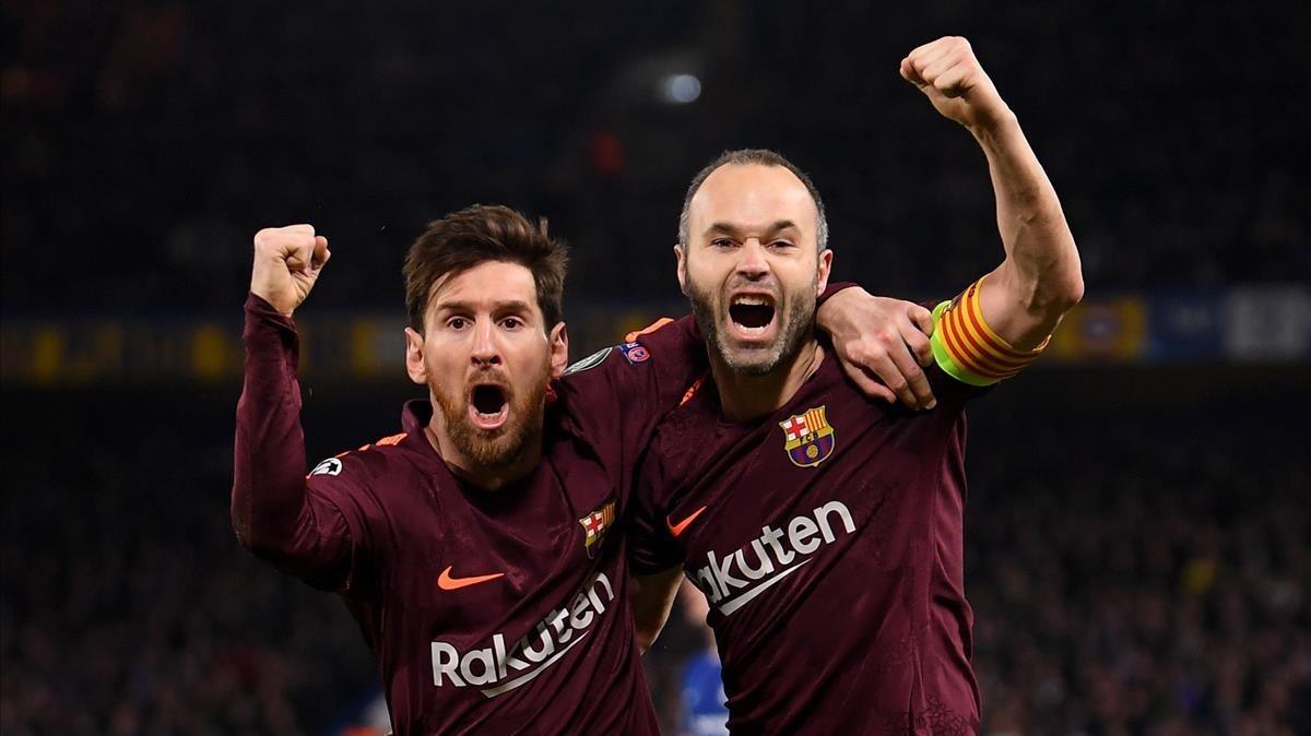 El gol d'Iniesta i Messi en el veïnatge universal