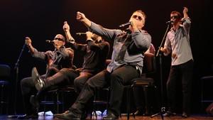 El grupo Vocal Sampling, durante una de sus actuaciones.