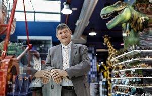 Josep Puig, gerente de Drim, en la tienda de juguetes de Glòries