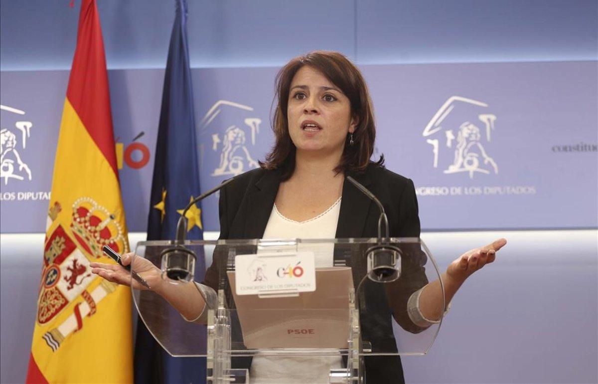 Adriana Lastra, este jueves en el Congreso de los Diputados.