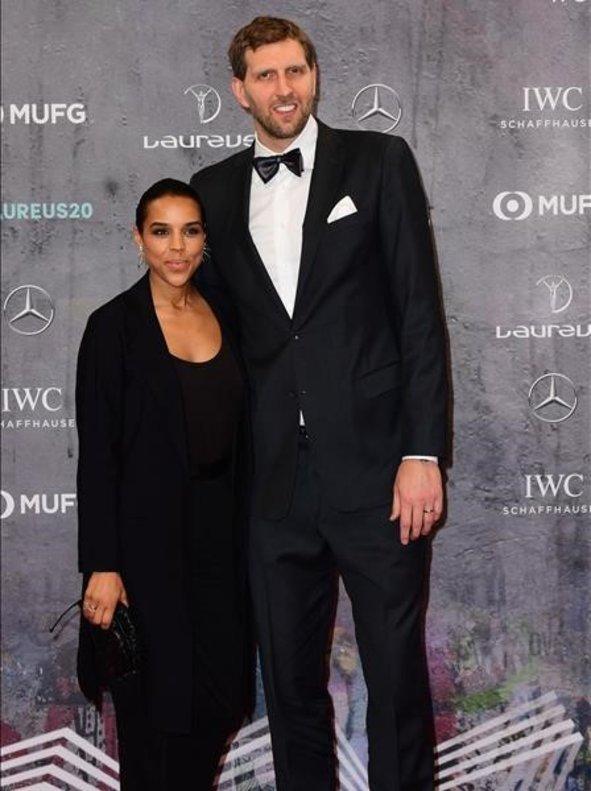 Dirk Nowitzki, el mejor de la historia en el baloncesto alemán, y su mujer, Jessica Olsson.