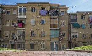 Vivendas en el distrito de Nou Barris, el más afectado en la ciudad.