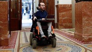 El portavoz en el Congreso de Unidas Podemos, Pablo Echenique