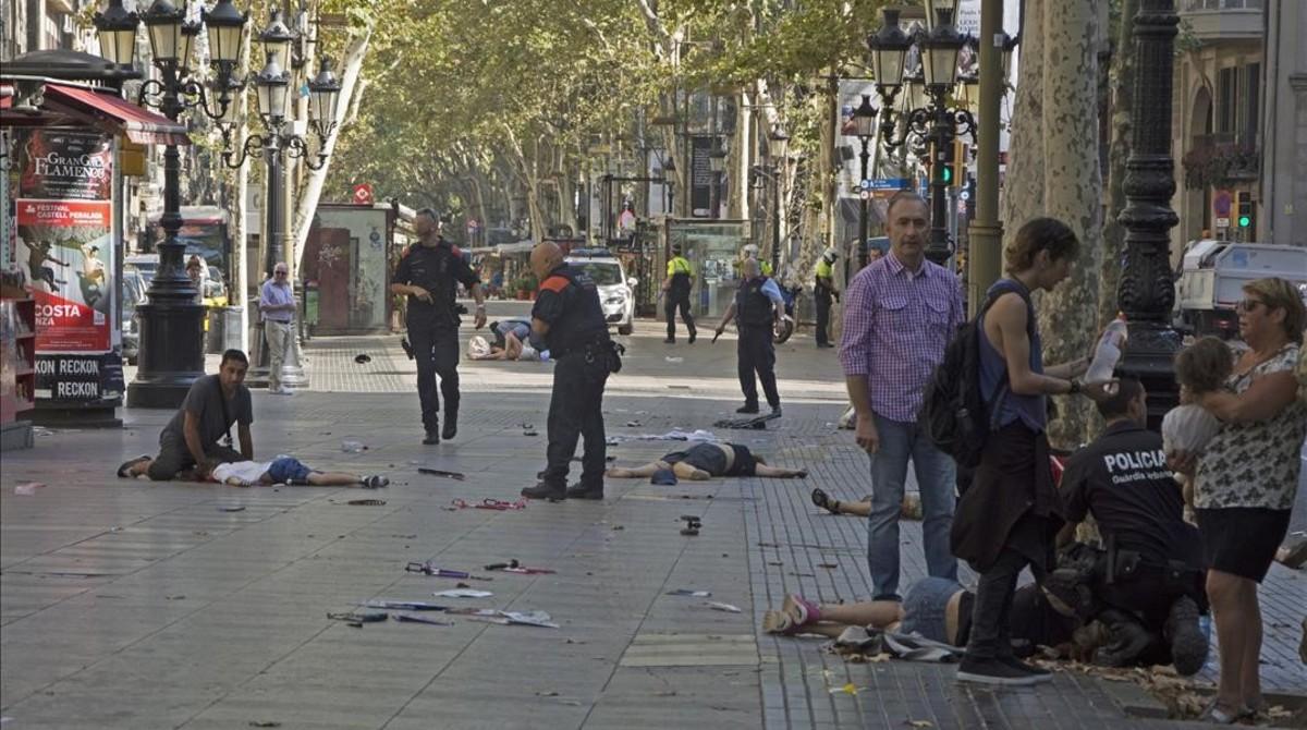 Esta fue la imagen escogida por el mundo entero para reflejar lo que fue el atentado de Barcelona.