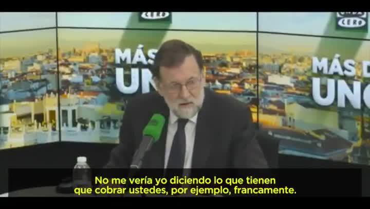 ¿No nos metamos en eso¿ dice M.Rajoy preguntado por la brecha salarial.