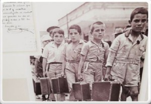 Muestra niños guerra