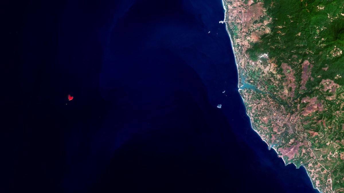La ESA capta desde el espacio una isla con forma de corazón