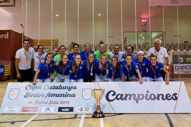 L'AE Penya Esplugues es proclama campiona de la Copa Catalunya de futbol sala per quart any consecutiu