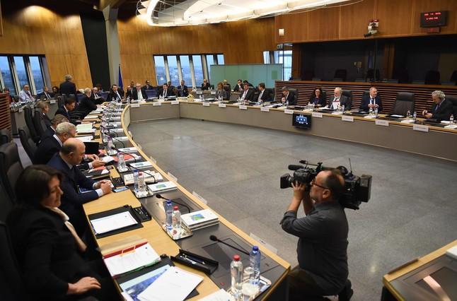 Reunión del colegio de comisarios de la UE.