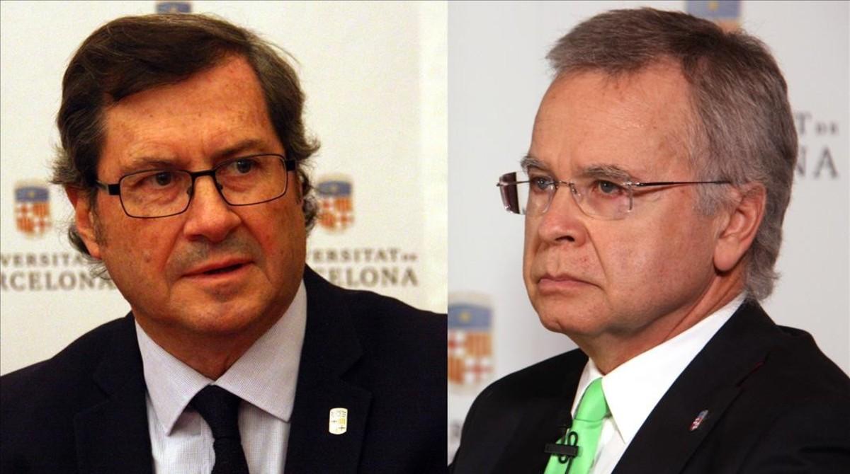 La UB elegirà nou rector entre Joan Elias i Màrius Rubiralta