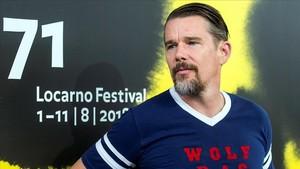 El actor y director de cine estadounidense Ethan Hawke, en el Festivalde Locarno, en Suiza.