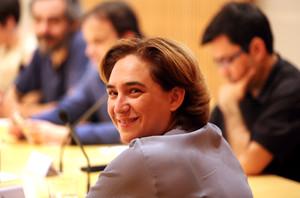 Ada Colau, durant la seva primera comissió de Govern, la setmana passada.