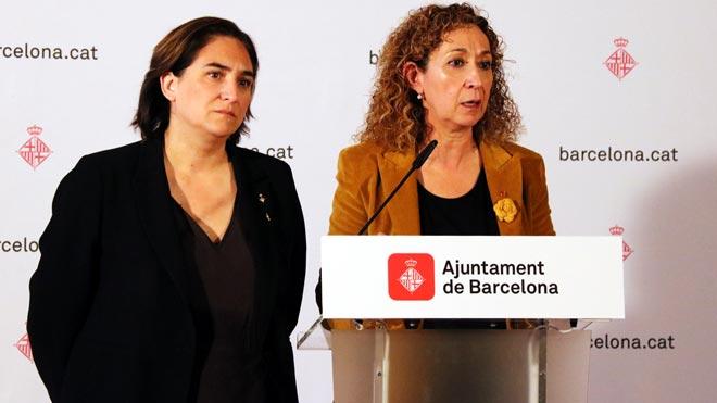 Ada Colau y Ester Capella piden al Gobierno que ponga en marcha el nuevo juzgado de guardia de Barcelona.