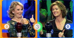 Esperanza Aguirre se pierde con las pruebas en su estreno en 'Pasapalabra'