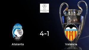El Atalanta golea 4-1 al Valencia en el duelo de ida de octavos de final