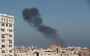 Bombardeos en la Franja de Gaza.