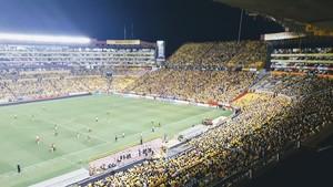 Aspecto del Estadio Monumental en el último partido de Liga.