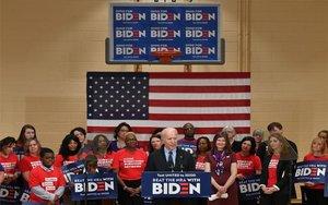 Joe Biden en un acto de campaña.