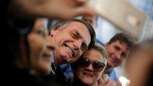 El ultraderechista Jair Bolsonaro durante la campaña electoral.