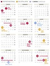 Calendario laboral de Girona del 2020.