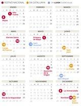 Calendario laboral de Lleida del 2020.