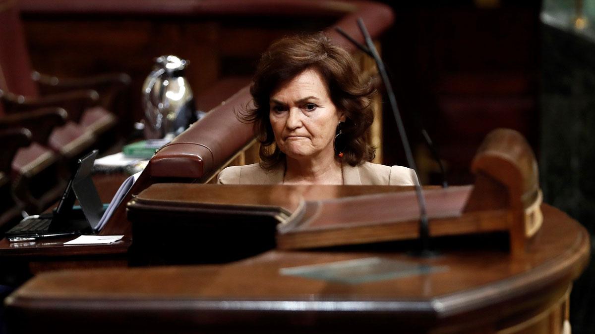 Carmen Calvo defiende el decreto que permitirá la exhumación de Franco.